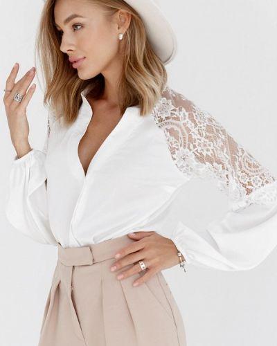 Белая блузка осенняя Gepur