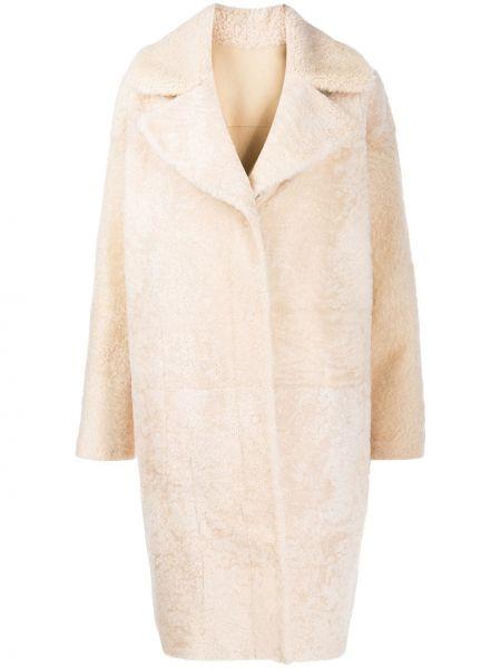 Свободная пальто классическое из искусственного меха оверсайз Drome
