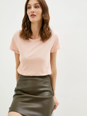 Розовая футболка с короткими рукавами Q/s Designed By