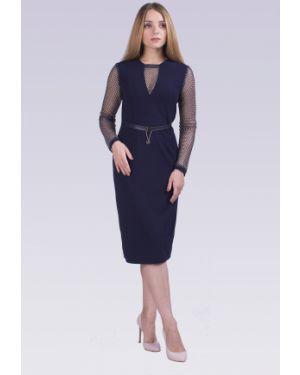 Платье с поясом с декольте сетчатое Lilacollection