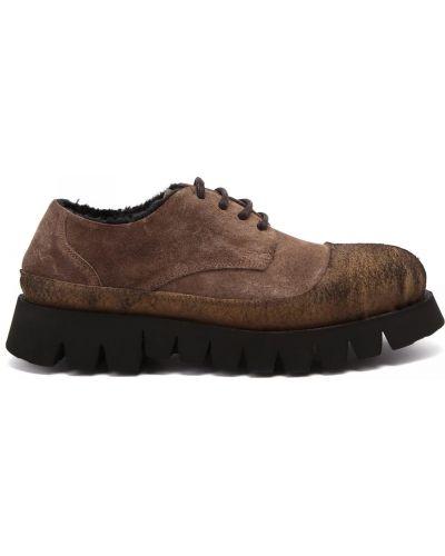Коричневые итальянские туфли Rocco P.