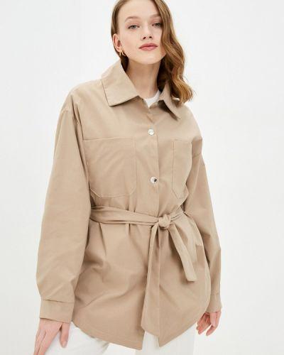 Облегченная бежевая куртка Izabella
