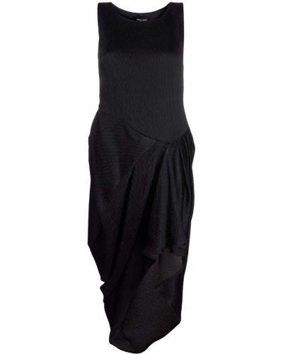 Черное платье из вискозы Giorgio Armani