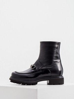 Черные высокие ботинки Nando Muzi