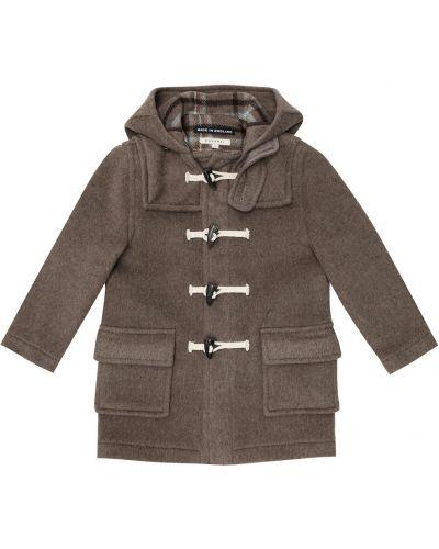Коричневое шерстяное пальто Caramel