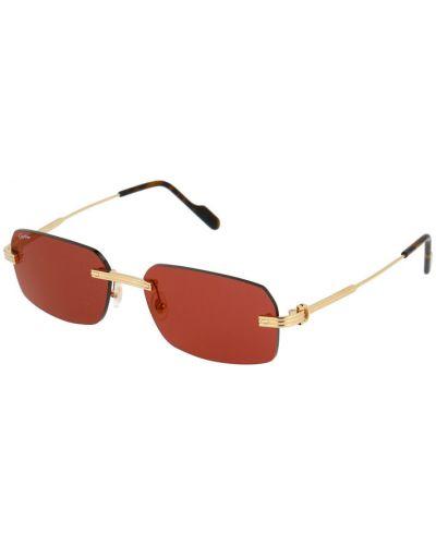 Czerwone złote okulary Cartier