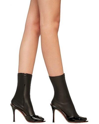 Черные силиконовые носки Wolford