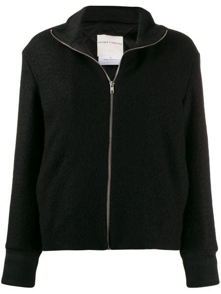 Черная длинная куртка с манжетами Stephan Schneider