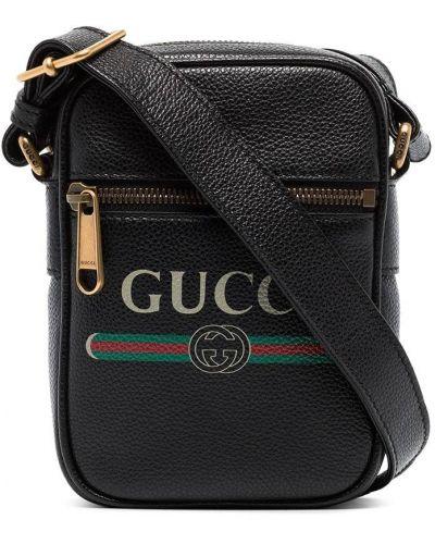 Сумка на плечо - черная Gucci