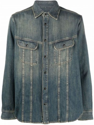 Koszula jeansowa - niebieska Saint Laurent