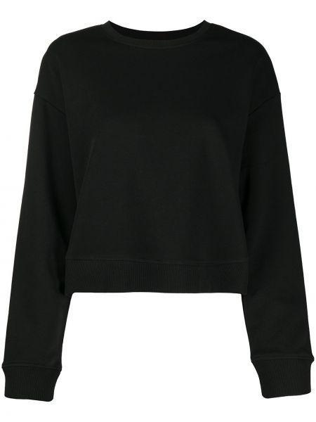 Czarna bluza z długimi rękawami bawełniana Redvalentino
