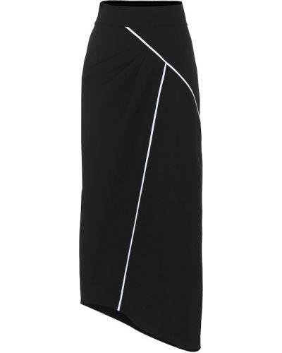Czarny asymetryczny wełniany spódnica Givenchy