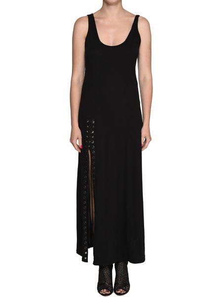 Хлопковое платье - черное Kendall + Kylie