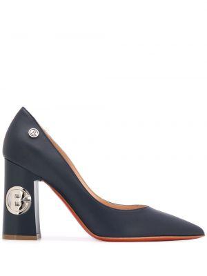 Синие туфли-лодочки с острым носом на каблуке Baldinini