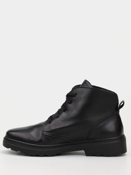 Базовые кожаные черные ботинки Inblu