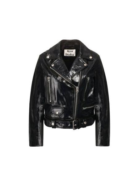 Кожаная куртка с подкладкой из вискозы Acne Studios