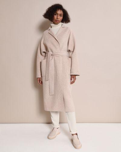 Шерстяное пальто - бежевое 12storeez