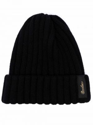 Czarna czapka prążkowana Borsalino