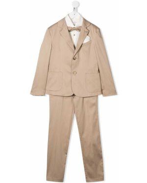 Spodni garnitur kostium brązowy Colorichiari
