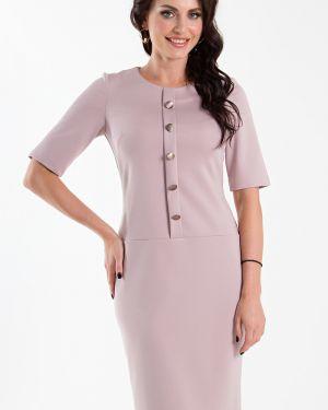 Платье розовое на пуговицах Taiga