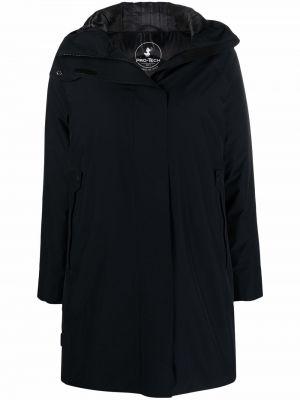 Пальто с капюшоном - черное Save The Duck