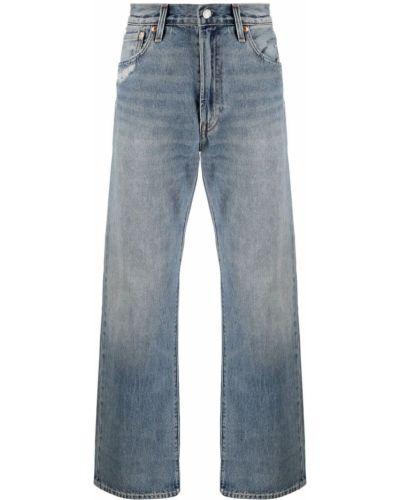 Синие прямые широкие джинсы на молнии Levi's®
