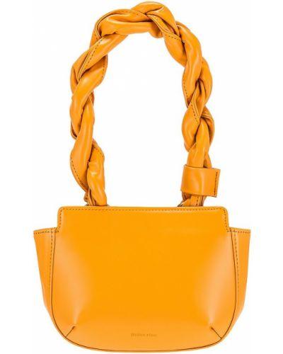 Pomarańczowa klasyczna torebka skórzana Reike Nen