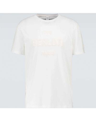Biała t-shirt bawełniana Berluti