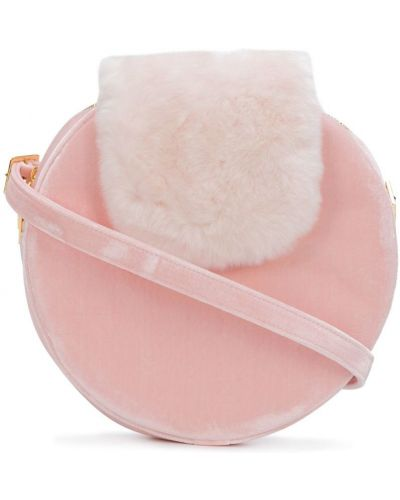 Сумка на плечо круглая розовый La Seine & Moi