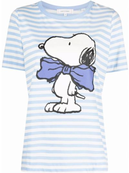 Хлопковая синяя футболка в полоску Chinti And Parker