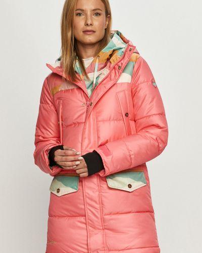 Różowy kurtka z kapturem z kieszeniami Femi Stories