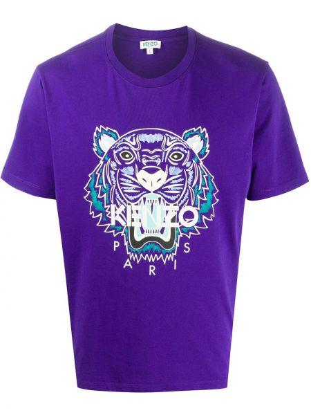 Koszula krótkie z krótkim rękawem fioletowy karmazynowy Kenzo