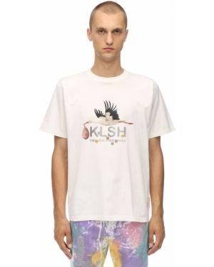 Biały t-shirt bawełniany Klsh - Kids Love Stain Hands