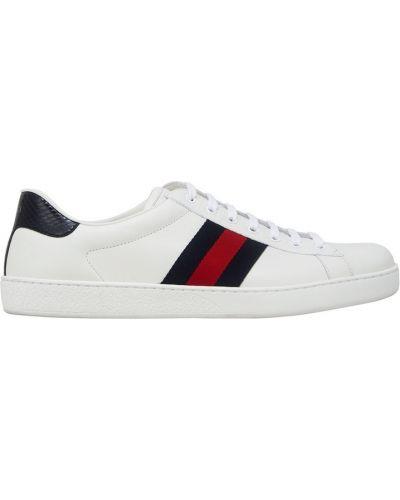 Кожаные кроссовки повседневные летние Gucci