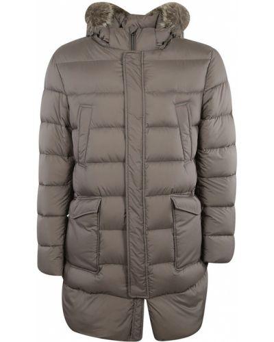 Szary płaszcz od płaszcza przeciwdeszczowego Herno