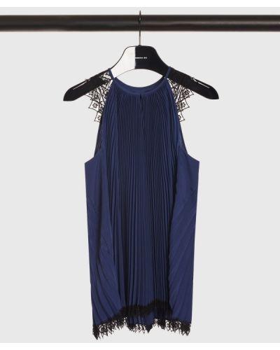 Блузка с открытыми плечами - синяя Barbara Bui