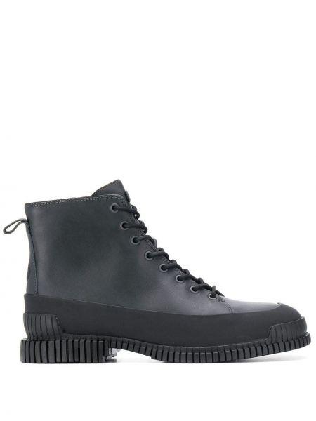 Черные кожаные ботинки на шнуровке Camper