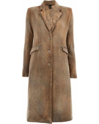 Шерстяное бежевое пальто классическое с капюшоном Avant Toi