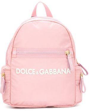 Złoty różowy plecak Dolce & Gabbana Kids