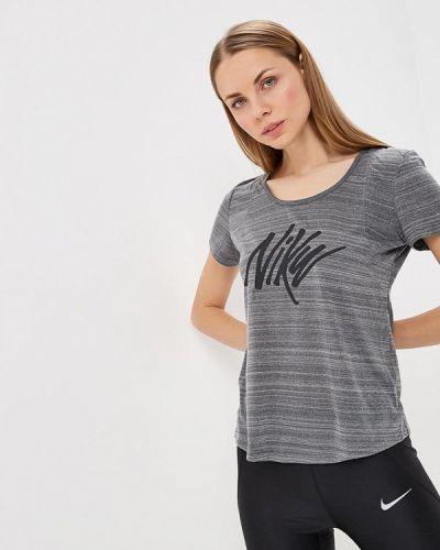 Серое поло спортивное Nike