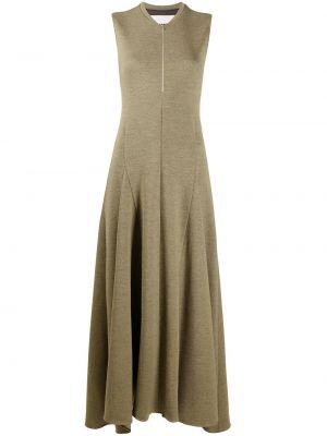 Шерстяное платье - зеленое Jil Sander