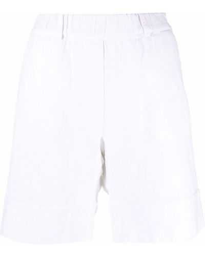 Льняные белые шорты с карманами Kristensen Du Nord