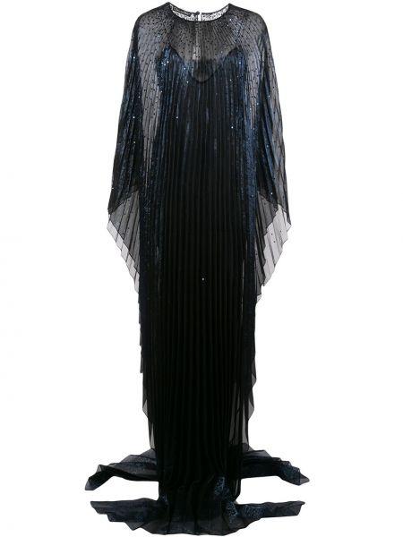 Платье на пуговицах плиссированное Oscar De La Renta