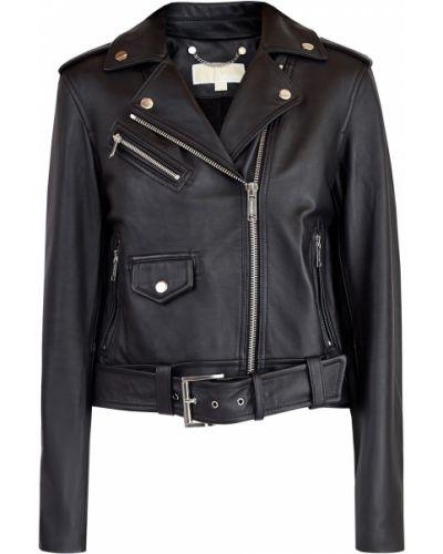 Кожаная куртка с поясом байкерская Michael Michael Kors