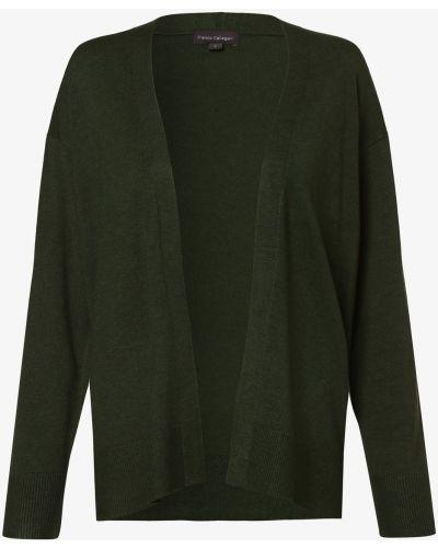 Ciepły zielony garnitur dzianinowy Franco Callegari