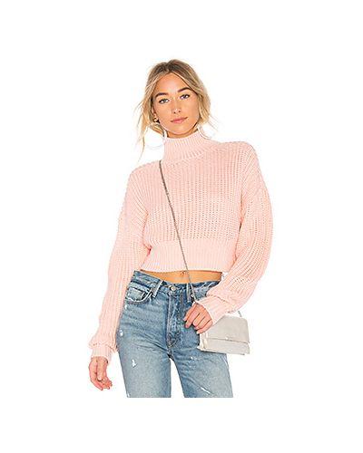 Розовый свитер в полоску Lovers + Friends