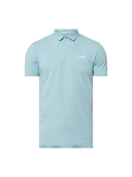T-shirt bawełniana - turkusowa Superdry
