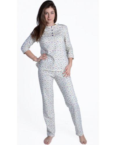 Пижама с брюками на пуговицах зимняя Грандсток