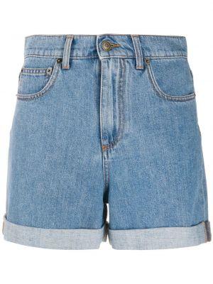 Синие хлопковые джинсовые шорты с карманами Philosophy Di Lorenzo Serafini