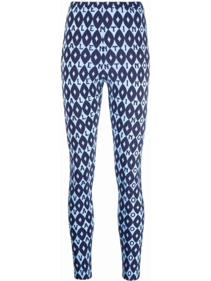 Синие леггинсы из спандекса Valentino
